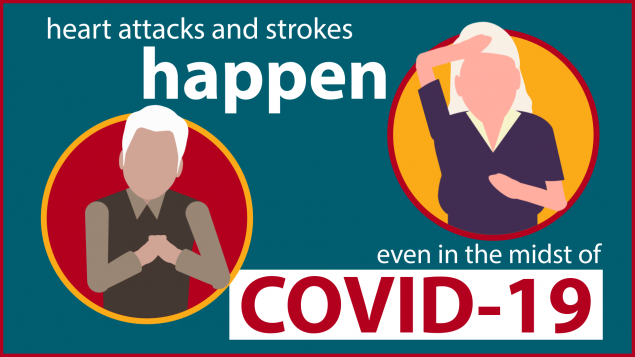 Heart attacks and strokes happen even in the midst of Covid-19.