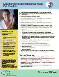 Cover of Patient Visit Checklist: Supporting Your Patients with High Blood Pressure