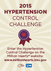 Million Hearts 2015 Hypertension Control Challenge is here! Go to http://millionhearts.hhs.gov/aboutmh/htn_champions.html to see how to enter and learn more.