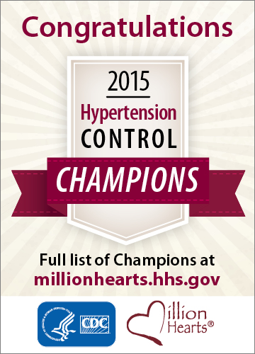 Million Hearts 2015 Hypertension Control Challenge winners announced! Go to http://millionhearts.hhs.gov to see the winners and learn more.