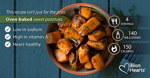 Oven baked sweet potatoes.