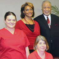 Reginald Parker with staff members of Northlake Family Medical Practice.