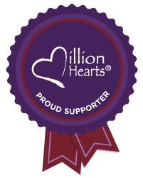 Million Hearts Proud Supporter Ribbon
