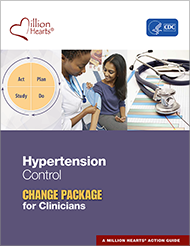 Book cover - Hypertenson control change package for clinicians.