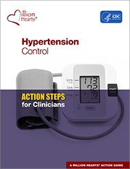 Book cover - Hypertension control Acton steps for clinicans