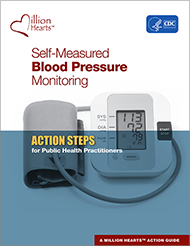 Book cover - Self-measured Blood Pressure Monitorng Action steps for public health practiitioners