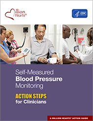 Book cover - Self-measured blood pressure monitoring action steps for clinicians.